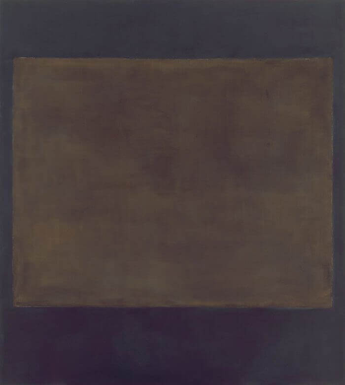 Plum and Dark Brown (1964) by Mark Rothko