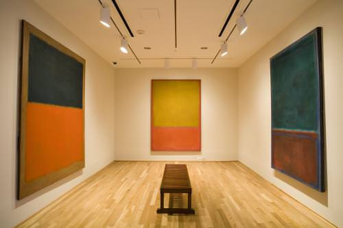 Photo of Ochre and Red on Red by Mark Rothko